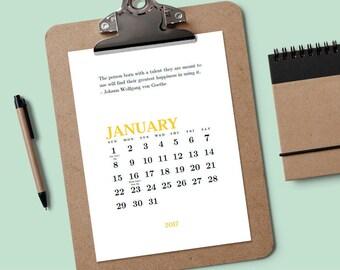 Druckbare Kalender - kreative Angebote - Download & Print 2017 Kalender - ewiger Kalender - bearbeitbaren Kalender PDF - Kalendervorlage PDF
