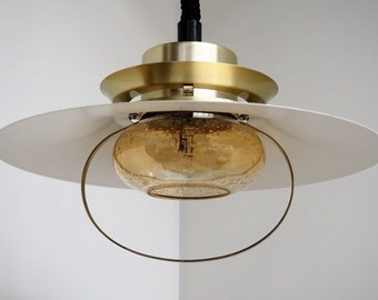 Mid Century Modern Brass Pendant From The Danish Company Vitrika, 1960s