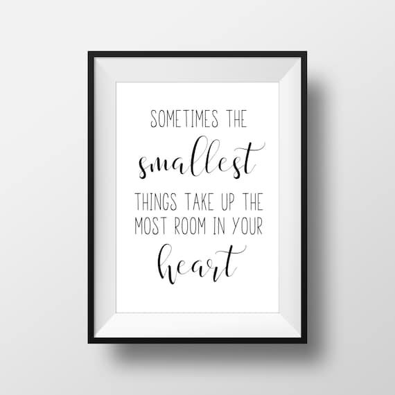 Winnie The Pooh Quotes Sometimes The Smallest Things: Items Similar To Sometimes The Smallest Things Take Up The