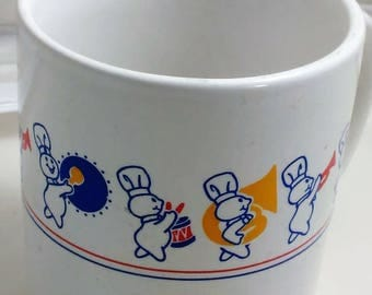 Vintage Pillsbury Dough Boy Marching Band/ 8oz Great Used Condition