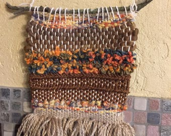 Silo..,Woven Tapestry,Fiber Art,Hand Woven Wall Hanging,Earth tone Wall Hanging