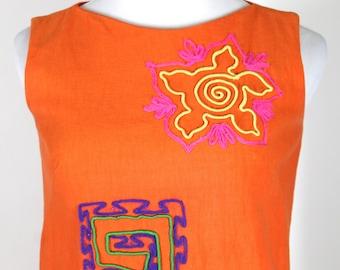 Eddy George Bright Orange 1960's Dress