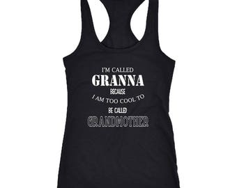 Granna Racerback Tank Top T-Shirt. Funny Granna Tank.