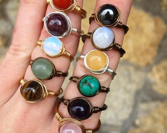 """Shop """"healing crystals"""" in Rings"""