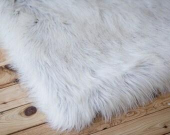 Cream Faux Fur, Newborn Photo Prop, Basket Filler, Basket Stuffer, Newborn Blanket Prop, Newborn Props
