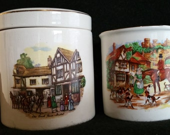 Sandland Ware Cup & Marmalade Container by Frank Cooper England