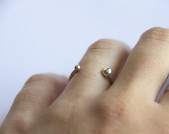 minimal silver ring