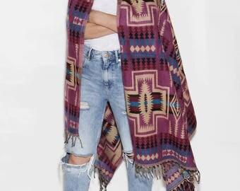 Lilac scarf, big scarf, wool silk shawl, wide wrap, beautiful scarf, warm scarf, long scarf, double sided scarf, wool scarf, blanket scarf