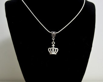 Princess Crown  Pendant Necklace  Crown Jewelry Queen Crown Pendant  Necklace  Silver Plate Necklace