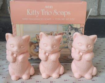 Avon Kittens soap, Avon Kitty soap, Three kittens soap, Cat shaped soap