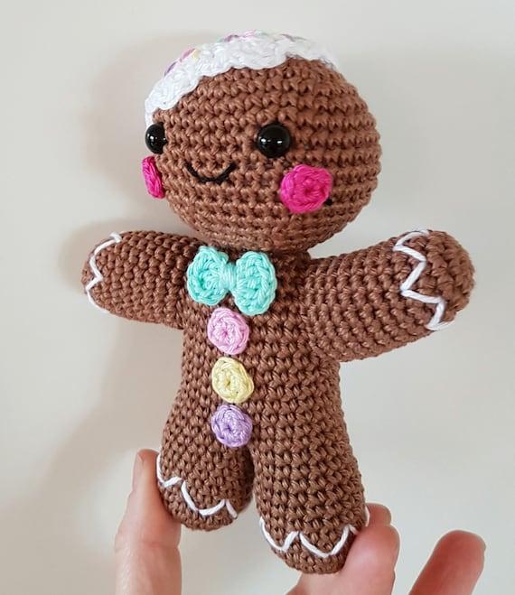 Gingerbread Man PDF PATTERN, Amigurumi Crochet From