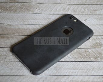 FREE SHIPPING - Black iPhone 6s Ultra Slim Leather Case