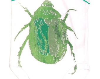 Green Beetle babygrow.