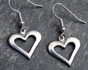 Pierced Heart Earrings