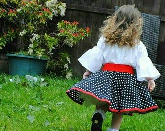 girls circle skirt custom made