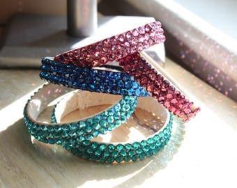Rhinestone Bangle Bracelet, Ballroom Dance, Competition Jewelry, Swarovski Bracelet, Ballroom Jewelry, Snag Free, Metal Free