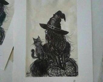 "Fine art print. ""Curious cat"""