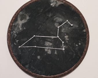 Leo Constellation Hand Embroidered Wall Hanging * Astrology Constellation *