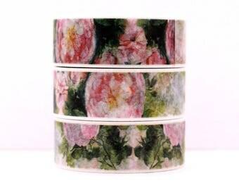 Design Washi tape pink rose garden
