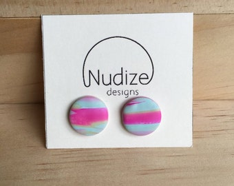 """Handmade statement stud earrings // gifts for her // """"The one"""""""