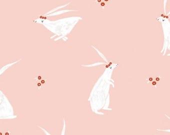 Folkwood Rabbits Pink by Dear Stella