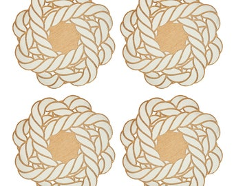 Turk's Head Knot Coasters | Nautical Coasters | Laser Cut | Made in Maine