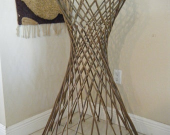 Rare Unique Collapsible Natural Wood Stick Twig Art Design stand
