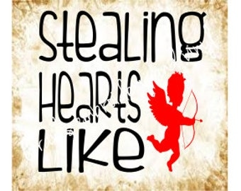 stealing hearts like cupid svg dxf