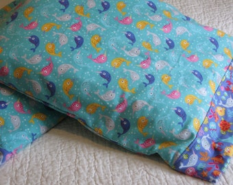 Pillowcase - Sea of Dreams, Individual, Standard Size, Cotton Flannel