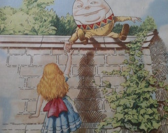 Alice in Wonderland Panel 23x44 Inches Cotton