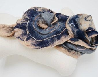 Nuno Felted Wrap, Nuno Felt Scarf, Wool Felted Shawl, Silk Scarf, Silk Shawl, Women's Scarf Nuno Felt Clothing Unique Handmade Scarf For Her