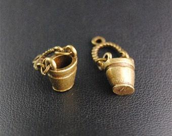 30pcs Antique Bronze Bucket Charms Pendant A2094