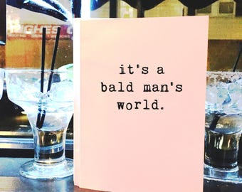 Bald Guy Card, Greeting Cards, Funny Card, Wholesale, Friend Card, Card for Him, Any Occasion