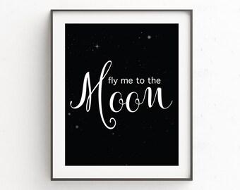 Fly Me To The Moon | Scandinavian Nursery | Nursery Modern Art
