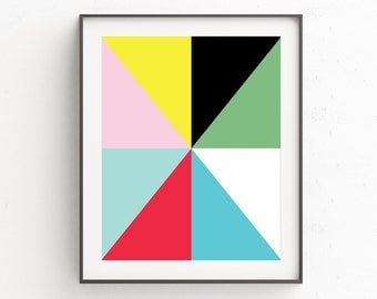 Bright Wall Art, Colorful Artwork, Art Modern, Abstract Print, Colorful Art, Colorful Abstract, Digital Download, Digital Wall Art, Prints