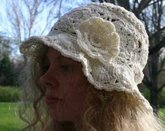 PDF Crochet PATTERN | Lace Sun Hat | SelkieRoad