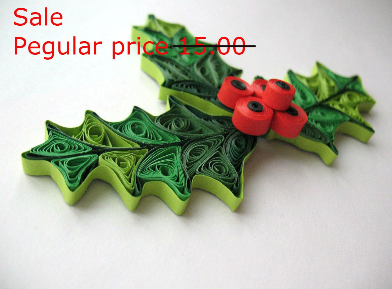 Sale quilled mistletoe christmas decoration by paperdreamland for Decoration quilling