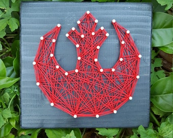 Mini Rebel Alliance String Art Home Decor