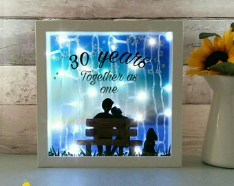 Anniversary Gift, Wedding Keepsakes, Personalised Engagement gifts, Marriage frame, Keepsake Lightbox, Couples present, Wife gift, wall lamp