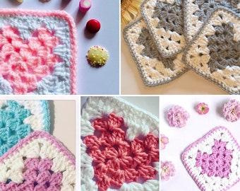 Handmade Crochet Heart Coasters