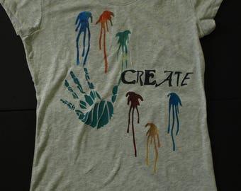 Create Handprint screenprint t-shirt