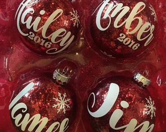 Personalized Name Christmas Ball Ornament