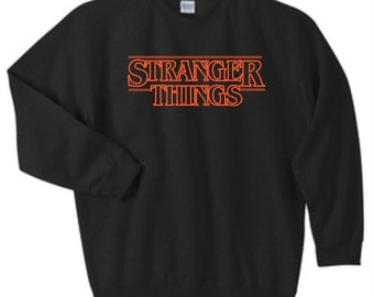 Stranger Things Sweatshirt, Stranger Things Crewneck Sweatshirt, Sizes S-5XL, Gift for Her, Gift for Him. 18000