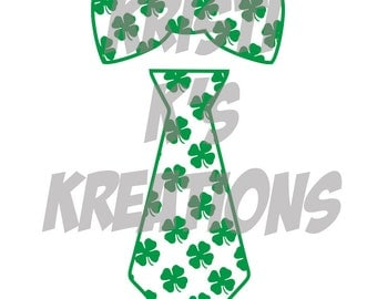 Bow Tie and Tie St. Patricks Day Set SVG/ DXF