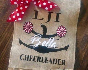 LJI Cheerleader Garden Flag