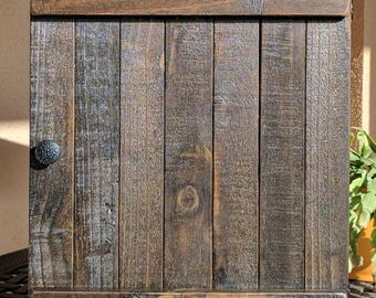 Wall Cabinet made from Rustic Reclaimed and Repurposed Pallet Wood
