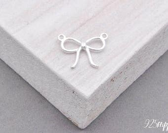925 Sterling Silver Bow Charm, Bow Pedant, Silver Bow, Silver Pedant, Bracelet Bow Charm, 925 Silver Bow, Necklace Bow Charm, Little Bow
