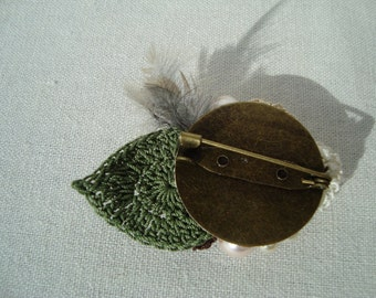 Brooch flower badge corsage
