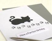 Cat Purrfect Birthday Card - Cat Birthday Card - Handmade Birthday Card - Cat Card - Greeting Card - Cat Lover - Crazy Cat lady
