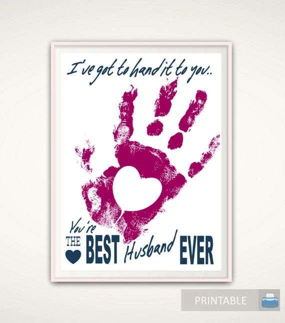 Best 1 Year Anniversary Gift For Husband : 1st Anniversary Gift for HusbandPRINTABLE Best Husband Ever ...